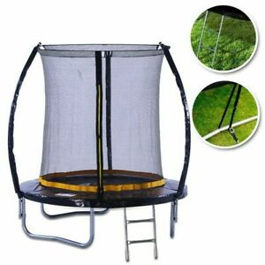 6-Feet Trampoline with Enclosure Safety Net Ladder Cover and Shoe Bag by  Kanga