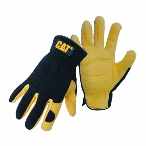 Caterar CAT Deer Skin eather Premium Quality Work Safety Gloves 2 Pair Deal