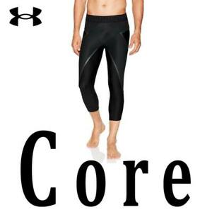 MEN-UNDER-ARMOUR-CORE-LEGGINGS-034-X-BAND-034-3-4-COMPRESSION-BLACK-1332079-001-MEDIUM