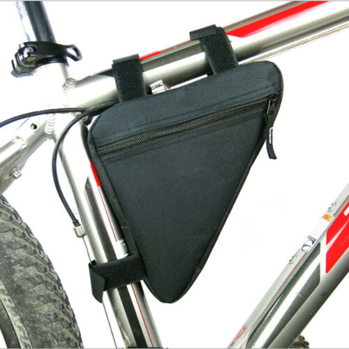 2pc Bicycle Triangle Frame Storage Bag Cycling Bike Phone Holder Organizer Pouch