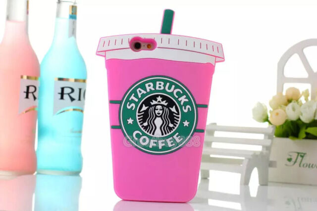 Starbucks 3D Silicone Coffee Cup Phone Case Cover For iPhone 5S 6Plus+Samsung S6