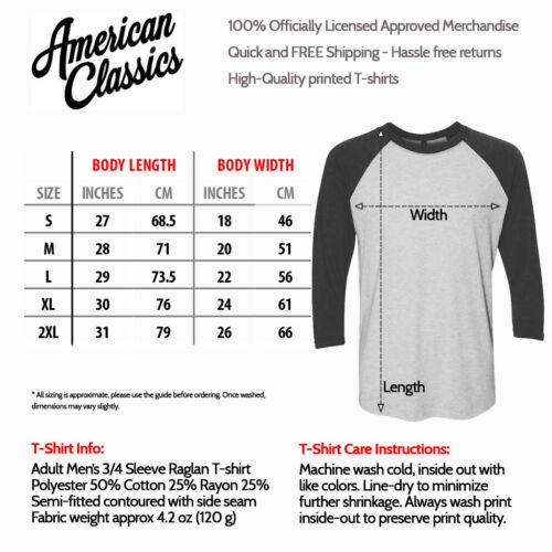 ACDC Mens Raglan Shirt Vintage Logo Long Sleeve Rock Band Album Tour Music Merch