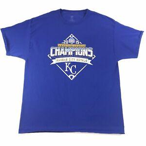 Kansas-City-Royals-2015-MLB-World-Series-Champions-Trophy-T-Shirt-Size-Xl-1110