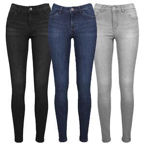 URBAN-CLASSICS-mujer-Jeans-Ajustados-Denim-Black-Azul-Oscuro-Gris-26-27-28-29