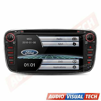 "XTRONS 7"" Ford Mondeo Focus S-max Galaxy Car DVD Player Radio GPS Stereo Black"