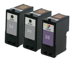 3pk for lexmark 34 35 ink for x2500 x2530 x2550 x3530 x3550 x4530 rh ebay com Lexmark X4530 Ink Cartridges Lexmark X4530 Wireless