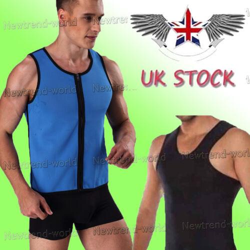 Faja Neopreno Deporte Chaleco Sudadera Body Shaper caliente para pérdida de peso hombres Reino Unido