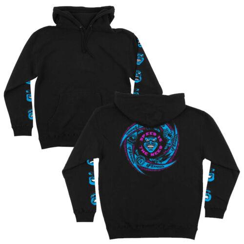 Santa Cruz Speed Wheels Faces Hoodie Sweatshirt Black Skateboard New L XL XXL