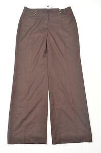 NEW White House Black Market 12 Dark Red Burgundy Wide Leg Dress Pants