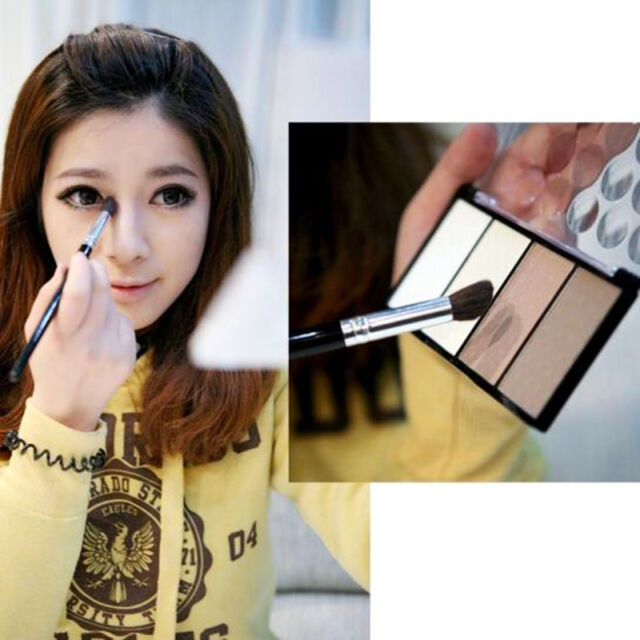4 colors Pressed Powder Highlight Contour Powder Shading Make-up Set Beauty Tool