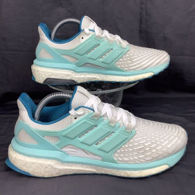adidas Energy BOOST White Energy Aqua Green Running Walking BB3458 40 women's 8