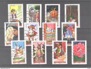 Nouveauté 2021 les 12 timbres du Carnet - CONTES MERVEILLEUX oblitérés