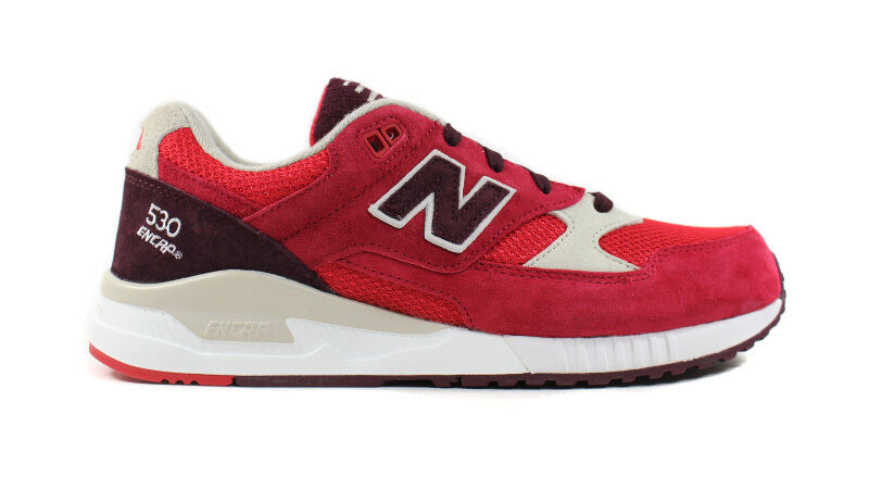 New Balance Men's 530 NEW AUTHENTIC Red/Chocolate/Cherry/Oyster M530RAA