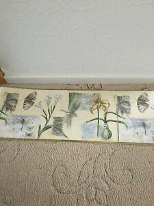 Birge Wallpaper Border Frieze Flowers Butterflies 5 Yards X 10