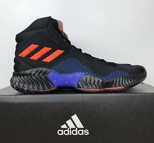 aa02dc8507a3 Image is loading Adidas-Pro-Bounce-2018-Kristaps-Porzingis-Black-Orange-