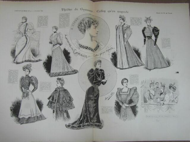 L' ART ET LA MODE - 1892 - No 45 - ILLUSTREE - THEATRE GYMNASE