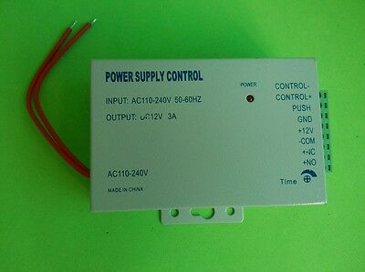 Door Access Power supply control DC 12V 3A AC 100-240V For Door Electric Locks