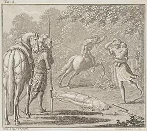 Chodowiecki (1726-1801). Idris nel HARNISCHFEGER distribuisce il maligno Centauri 1