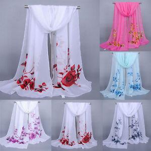 Women-Floral-Pretty-Long-Soft-Chiffon-Scarf-Wrap-Shawl-Casual-Stole-Scarves-Hot