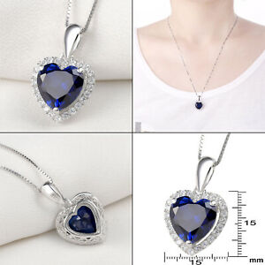 Newshe-Heart-Blue-Sapphire-925-Sterling-Silver-Pendant-Chain-Necklace-For-Women