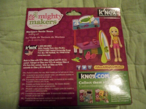 K/'nex*Marissa/'s Turtle Tours Building Set*Paddle Board*Mighty Makers