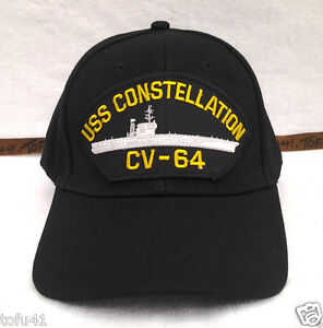 USS-CONSTELLATION-CV-64-BLACK-Military-Veteran-US-NAVY-CARRIER-Hat