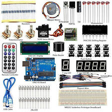 US Ultimate Starter Kit 1602 LCD Sensor Breadboard LED for Arduino UNO R3 Board