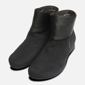Mephisto-Ladies-Fiducia-Black-Nubuck-Zip-Boots