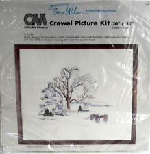 Columbia Minerva Winter Morning Crewel Embroidery Kit 20 x 24 Erica Wilson