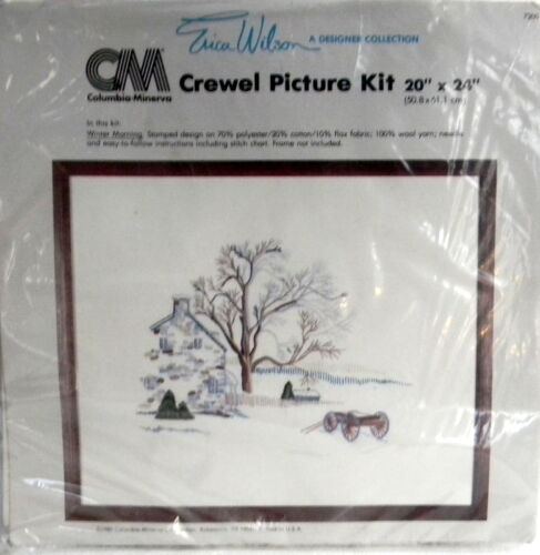 Columbia Minerva Winter Morning Crewel Embroidery Kit 20 x 24 Erica Wilson
