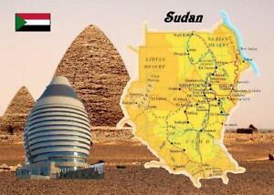 Sudan Country Map New Postcard