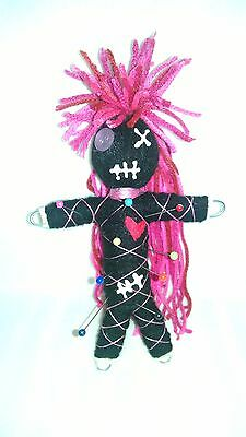 Authentic Voodoo doll real Pink stitch 7 pins guide karma new orleans hoodoo reg