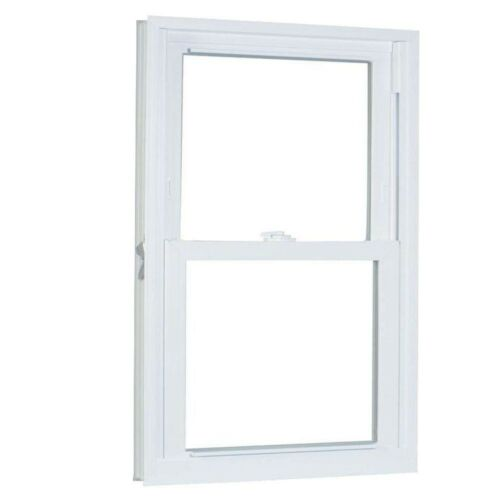 x 37.25 in. Window Double Hung Buck Frame White Vinyl Replacement 27.75 in