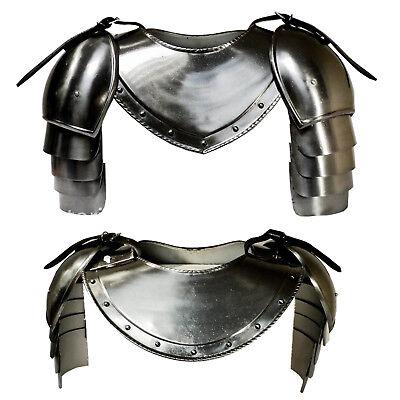 Kettenhemd aus Aluminium Rüstung Haubergeon Kostüm Ritter Ritterkostüm Larp