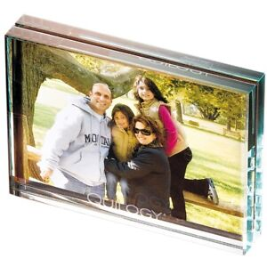 Cut Glass Photo Frame Completely Transparent Easy Load Heavy