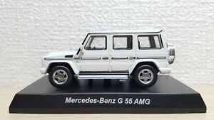 1-64-Kyosho-MERCEDES-BENZ-G-CLASS-G-55-AMG-WHITE-diecast-car-model