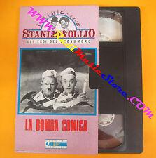 VHS film STANLIO & OLLIO LA BOMBA COMICA gli eroi del buonumore (F96) no dvd