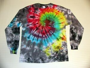 102713123b468 Details about Tie Dye T Shirt Long Sleeve Adult Youth Galaxy Swirl Cotton S  M L XL 2XL 3XL