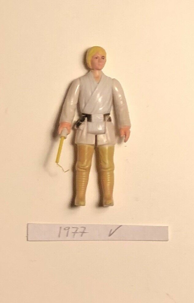 1977 Vintage Star Wars Luke Farmboy Action Figure Complete Original Hong Kong