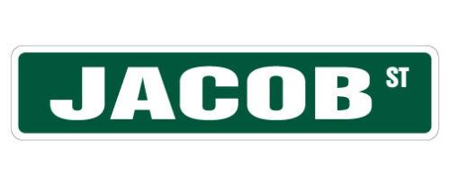 Indoor//Outdoor JACOB Street Sign Childrens Name Room Decal