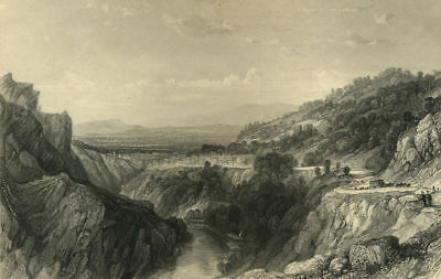 Puy De Dome Ville De Thiers Gravure Originale De 1876 Completo En Especificaciones
