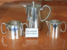 Tee-Kaffee-Portionskanne Milch/Zucker  Hotelsilber versilbert Sheffield Art Deco