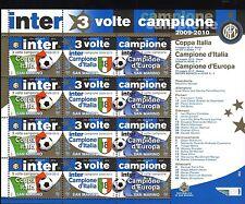 SAN MARINO 2010 INTER TRE VOLTE CAMPIONE TRIPLETE   MNH**