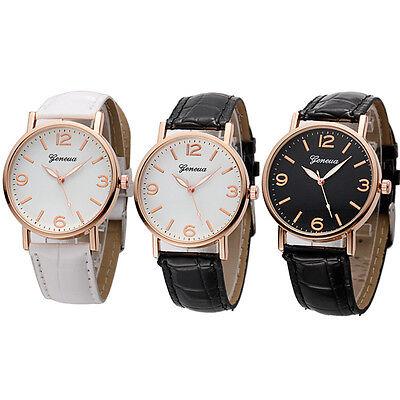 Luxury Geneva Women Roman Numerals Waterproof Faux Leather Analog Quartz Watch