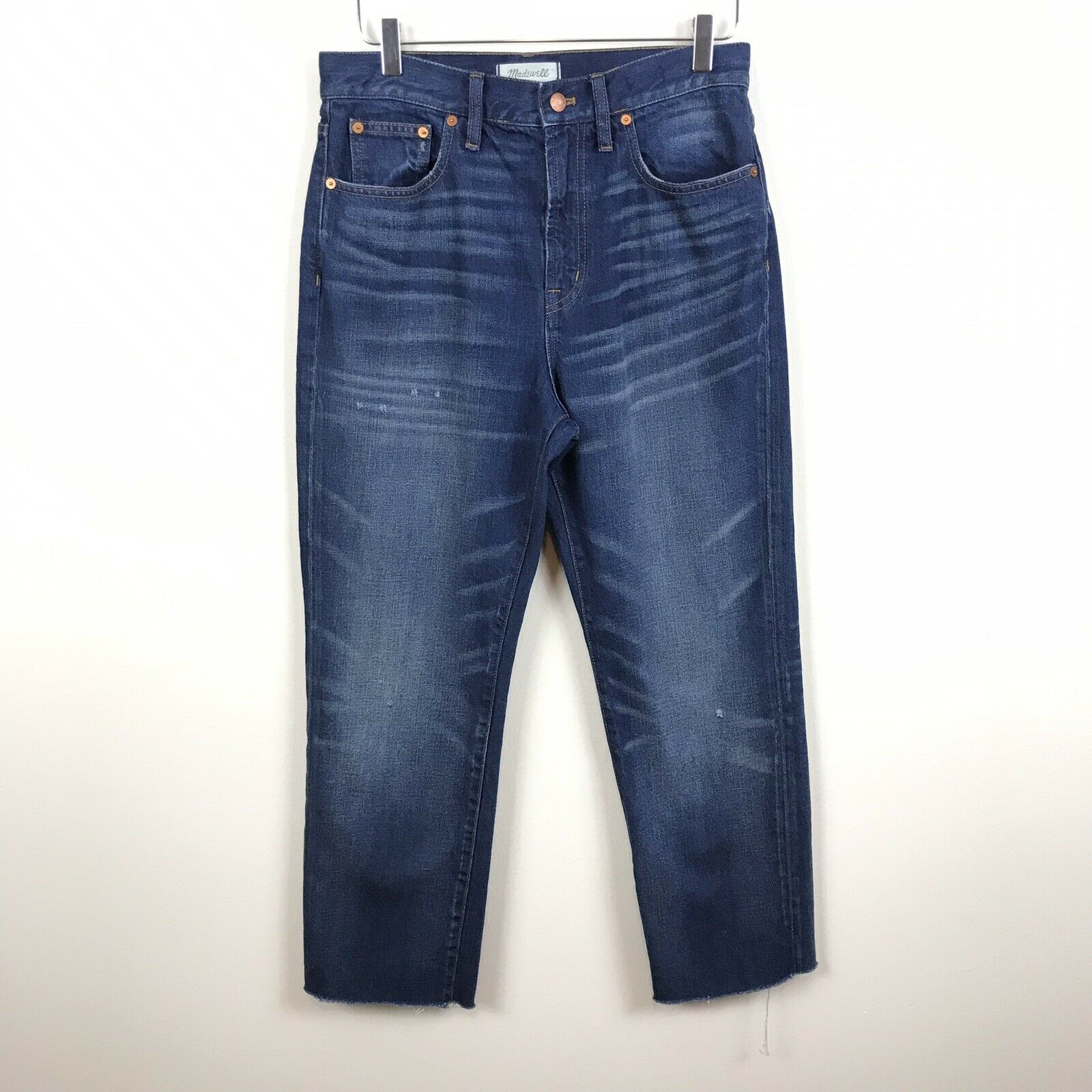 Madewell 29 in (environ 73.66 cm) Le Parfait Vintage jean foncé délavé Größe haute 100% coton B56