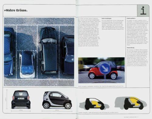 Smart City Coupe Prospekt 2000 2001 9//00 brochure Autoprospekt broschyr broszura