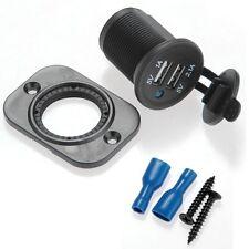 PRESA CONNETTORE DA PANNELLO USB DOPPIA 1A 2.1A 5V CON TAPPO IMPERMEABILE AUTO