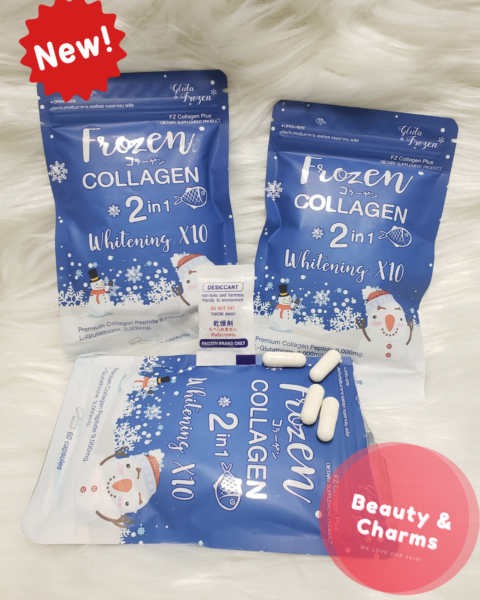 Frozen Collagen 2-in-1 Whitening 60 Capsules Authentic US Seller Next Day Ship!