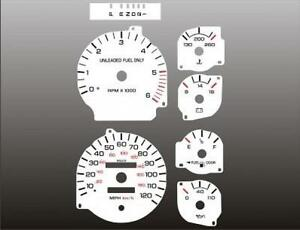 1994-1997-Dodge-Ram-GAS-Dash-Cluster-White-Face-Gauges-94-97