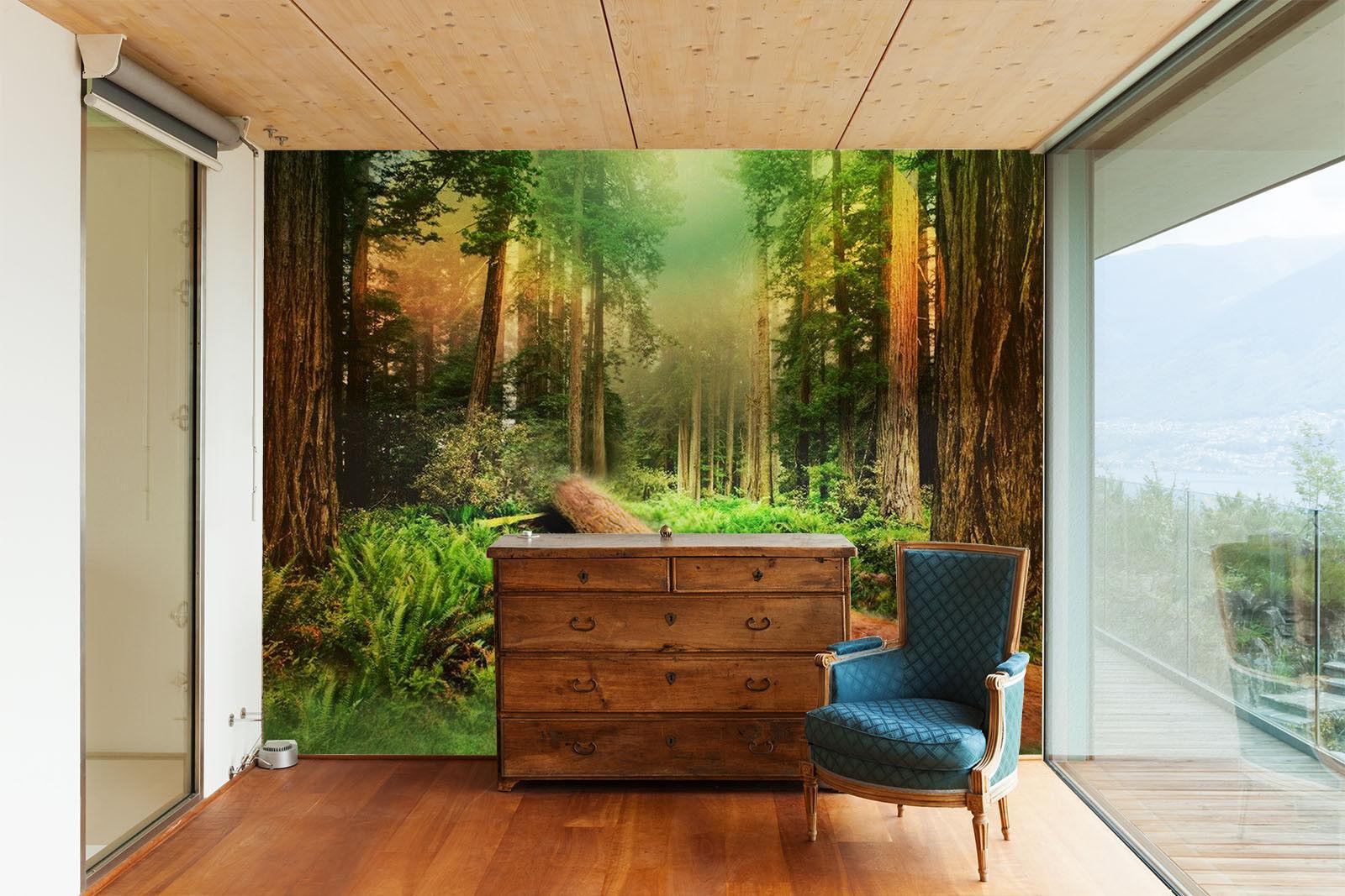 3D Forest Lawn 724 Wallpaper Mural Paper Wall Print Wallpaper Murals UK Lemon